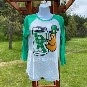 St Patrick's Graphic Tee Shirt Get Slothed